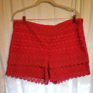 Fucshia Lace shorts